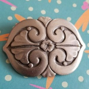 Vintage R. Tennesmed brooch rune silver tone pin